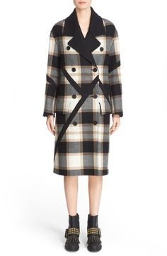 Burberry Prorsum Tartan Plaid Wool Coat available at #Nordstrom