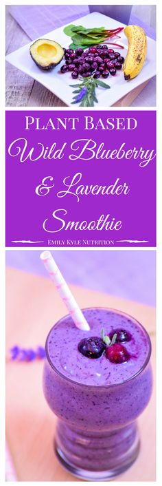 Take a moment to whip up this Wild Blueberry & Lavender Smoothie to enjoy a few minutes of stress relief from these amazing all natural, plant-based ingredients that will help to calm your mind, soothe your body, and relax your soul.   @EmKyleNutrition
