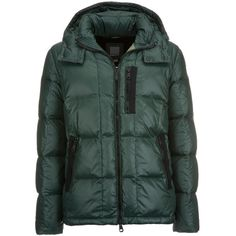 Geox Down Jacket (990 CNY) ❤ liked on Polyvore featuring men's fashion, men's clothing, men's outerwear, men's jackets, jungle and men