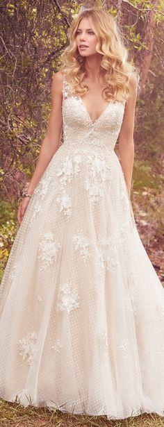 Wedding dress by Maggie Sottero 2017   @maggiesotero #maggiesottero #maggiebride