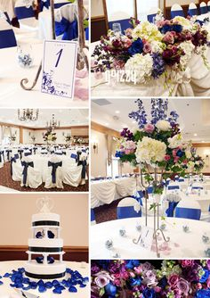 Our royal blue and purple wedding from few weeks ago!