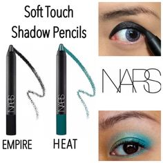 2 Nars Soft Touch Shadow Pencils 2 Nars soft touch shadow pencils in Empire & Heat. The shadow pencils provide easy, portable, long wearing application. These pencils have versatile functionality to shade the lid, line, or highlight the eye. NWOB. Never used or swatched. 100% Authentic. No Trades. Price firm unless bundled. All sales final. Ask questions prior to purchasing. Thanks for visiting & Happy Poshing! NARS Makeup Eyeshadow