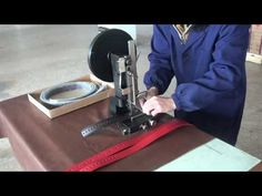 Hand Operated Hole Punching Machine for Leather Belt and Strap - YouTube