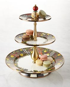 Evergreen Three-Tier Sweet Stand, Multi Colors