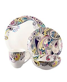 Denby Monsoon Cosmic 4 Piece Place Setting