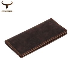 COWATHER 2016 new men wallets vintage cow crazy horse luxury leather good Manual male purse carteira masculina free shipping #jewelry, #women, #men, #hats, #watches, #belts