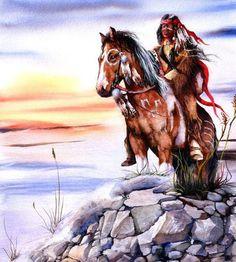 Indien et cheval -                                                       …