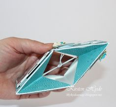 A pop-up cube card is a fun cardfold. Here I have used it as a thank you card after a confirmation. I have left space on the first ...