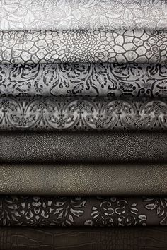 Whites, Greys, Blacks, Embossed Leather. Barbarossa Leather.