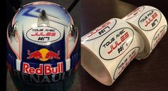 JEV made stickers for all fellow driver's to use on their helmets in support of Jules. (Sochi 2014) #ForzaJules     Chargement    On sera tous avec toi Jules ce week End...  Af