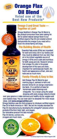 Do you know that Essential Fatty Acids (EFAs) are important for each and every cell in our bodies and the only way we can obtain them is from our diet? To learn more about its benefits, click here and share! http://www.omeganutrition.com/ProductDetails.aspx?item_no=ELOFB012&CatId=To speak to one of our specialists, please call 1-800-661-3529