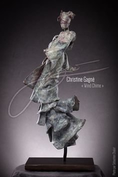 Bronze Geisha by sculptor Christine Gagne