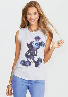 DELIA*S: Galactic Mickey Mouse Muscle Tank