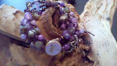 Shades of purple with Amethyst stunning Wrap by halfmoonunder
