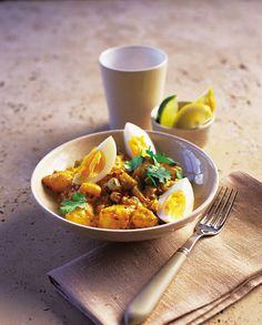 You can�t beat this English take on a vegetarian curry recipe made with eggs, potatoes, celery and coriander.