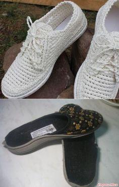 Street wear slippers Multiple Sizes Adults/Men/Women Street shoes - Crocheted Boho shoe - Made to Or Crochet Sandals, Crochet Boots, Crochet Slippers, Crochet Yarn, Crochet Shoes Pattern, Shoe Pattern, Diy Crafts Crochet, Boho Shoes, Diy Bags Purses