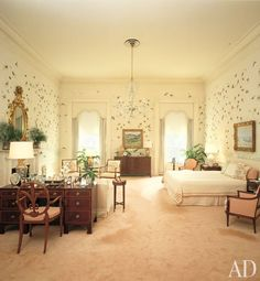 Celebrating The History Of Interior Design At White House Architectural Digest Bedroom