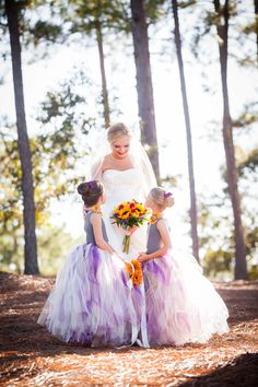 diy flower girl skirts made of tule and and leotards !!