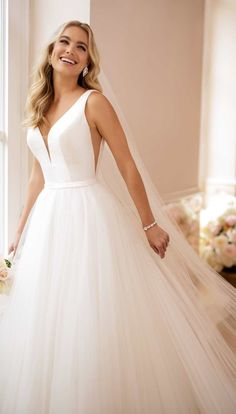 Courtesy of Stella York Wedding Dress Collection from Essense of Australia; Wedding dress idea.