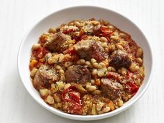 Get Sausage and Bean Stew Recipe from Food Network