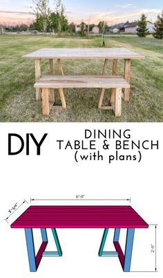 The classic truss dining table with a modern twist! Grab plans to build your own DIY dining table and matching bench. #diningroom #diyhome #diyprojects #woodworking #diningroominspo Pallet Patio Furniture, Diy Furniture Plans, Do It Yourself Decorating, Modern Dining Table, Diy Table, Diy Woodworking, Diy Projects, Wood Crafts, Diy Crafts