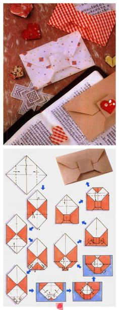 how to make a cute envelope with a piece of paper