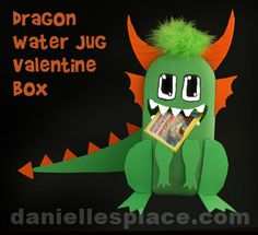 Dragon Valentine Box Kids Can Make from www.daniellesplace.com