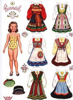 4 Norwegian Paper Dolls With Norway Bunads Traditional Folk Costumes for sale online Bjd Dolls, Doll Toys, Reborn Dolls, Reborn Babies, Art Origami, Round Robin, Paper Art, Paper Crafts, Paper Dolls Printable