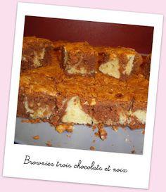 Cuisine et cetera !: Brownies trois chocolats et noix