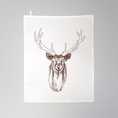 Wunderwerk an der Spree von wunderwerkanderspree Hirsch Illustration, Moose Art, Xmas, Etsy, Animals, Design, Screen Printing Process, Drawing Hands, Guy Gifts