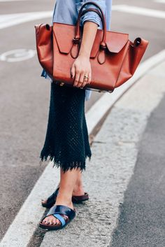 September 26, 2015  Tags Milan, Black, Brown, Blue, Nails, Fringe, Women, Frayed, Flats, Bags, Skirts, Knitwear, Rings, Shirts, Sandals, SS16 Women's, Céline, Button-down