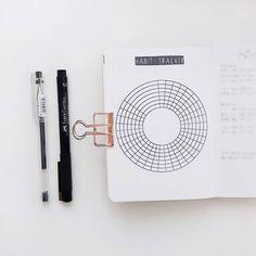 A6 Bullet Journal Habit Tracker   Free Printable   Circle Habit Tracker