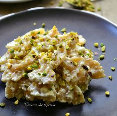 farfalle integrali con crema di ricotta e pistacchi ricetta light (3)