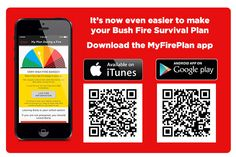 The RFS has developed a new app to help you develop your bushfire survival plan, because 'planning to make a plan is not a plan'! If you live on bushfire prone land (which you may just have found out about! Make A Plan, How To Make, Safety, Survival, Public, Fire, Science, App, Make It Yourself