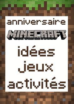 Des petits jeux et des activités sur le thème de Minecraft