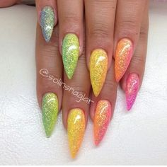 Don't like the points of the nails but the color I love!