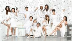 2012 Kardashian Christmas card white hot success, who's missing?