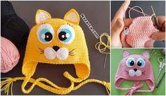Crochet For Kids, Crochet Baby, Knitting Designs, Knitting Patterns, Cat Amigurumi, Viking Tattoo Design, Head Shapes, Cat Crafts, Knitting For Beginners