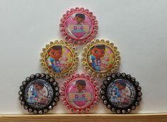 6 Doc McStuffins Inspired Flatback Cabochons Resin-Embellishment  #DocMcStuffins