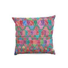 Hand-Woven Floral Pillows - A Pair