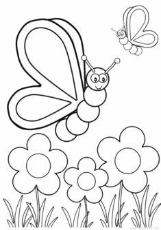 Kelebek Boyama Sayfasi Okuloncesitr Preschool 2020 Boyama Sayfalari Mandala Boyama Sayfalari Kelebekler