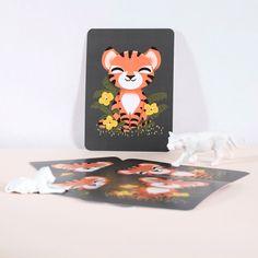 Petite carte les Animignons le Tigre (10,5 x 14,8 cm)