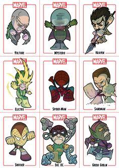 Chibi Spider-Man Sheet 1 by *Juggertha on deviantART