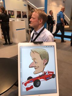 ipad Live karikatur med Allan Buch. farve profilfoto2 Caricatures, Ipad, Baseball Cards, Live, Illustration, Caricature Drawing, Illustrations, Caricature