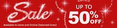 Winter Sale Going on Now Save up to 50% Off!!