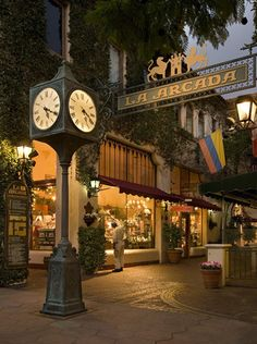 Downtown shopping arcade, Santa Barbara, California - found it oh so mexican there & really liked it.
