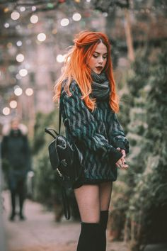 Almost Christmas. Edgy Outfits, Grunge Outfits, Grunge Fashion, All Fashion, Cute Outfits, Fashion Outfits, Womens Fashion, Fashion Tips, Witches Costumes For Women