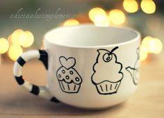 Tazón: ♥Cupcakes / Adictaaloscomplementos - $15€
