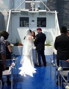 Wedding aboard Spirit of Chicago!