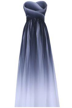 Gorgeous Bride Elegant Lang Traegerlos Empire Chiffon Abendkleider Festkleid Ballkleid -32 Mehrfabrig                                                                                                                                                      Mehr